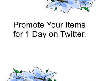 Promote Your Items for 1 Day on Twitter-The items 10,20,30,40,50 will be randomly.