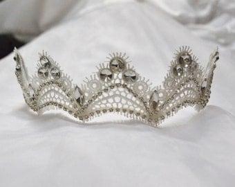 Tiara, headband, bridal headband, wedding accessory, Crystal tiara, rhinestone tiara, crystal headband, rhinestone headband
