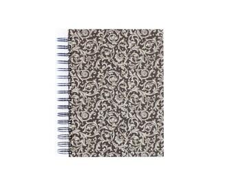 brown A5 Sketchbook Journal, blank spiral bound book, fine art paper sketch book