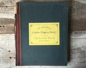 The Centennial Letter Copying book Centennial mfg co cincinnati oh