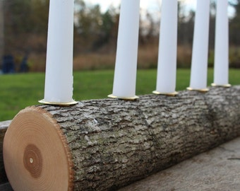 Multi Taper Candle Branch Holder - Rustic Wedding - Decoration Chic