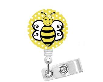 Buffy the Bee  - Name Badge Holder - Teacher Badge Reels - Nurse Badge - Nurse Gift  - Nursing Badge - RN Badge - Name Badge Holder