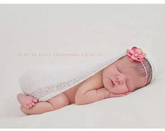 STRETCH WRAP- WHITE--Newborn Photo Prop- photography- super soft