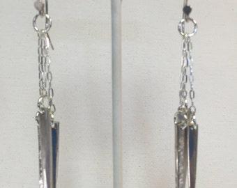 Sterling Silver Triple Tine Earrings