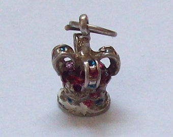 Crown Sterling Silver Charm c. 1970s