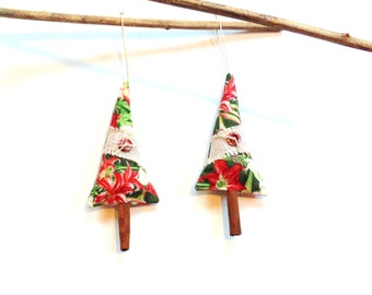Balsam fir pine sachet trees, cinnamon trees, scented ornaments, tree trimming, teacher gift, scented sachets, Christmas ornament