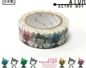 Shinzi Katoh Masking Tape / Atom Boy- for scrapbooking, birthday party favor, gift wrapping, craft projects