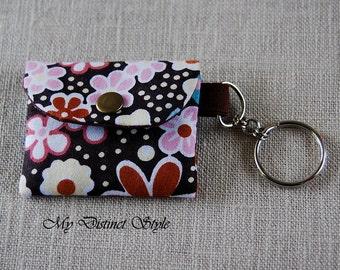 Mini Coin Purse / Fabric Coin Pouch / Key ring pouch / Bridesmaid Gift