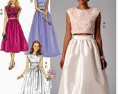 Evening Dress Pattern, Formal Skirt and Top Pattern, Wedding Gowns Pattern, McCall's Sewing Pattern 7355