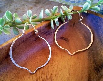 Mexican, Spanish, Southwest Inspired Exotic Quatrefoil Hoops - 1.75 inch by 1.75 inch, Sterling Silver, Gift