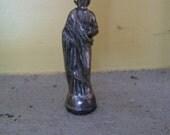 Catholic statue Silver Cast Iron Catholic Icon St. Joseph Jesus' Father Husband of Mary Religious Statue
