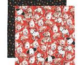 Kids Napkin, Cloth Lunch Napkin, Fabric School Napkin, Lunchbox Napkin, Red Puppy Dog Napkin, 1 double sided fabric napkin