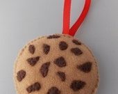 Chocolate Chip Cookie - Felt Christmas Ornament