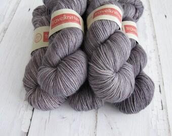 Extra Fine Merino DK hand dyed yarn - London Skies
