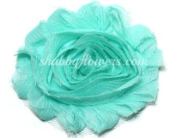 Shabby Flowers, Shabby Flower by the Yard, Shabby Flower Trim, Chiffon Rose Trim, Headband Flowers - MINT