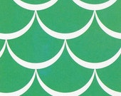 "20% Off Sale New Waves Scales - Basic Green - Cotton Fabric - 43""/44"""