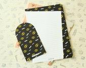 Batman Cartoon Black and White writing paper & envelopes set