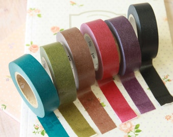Winter Time Classiky washi masking tapes