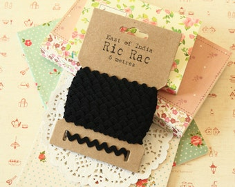 Black Ric Rac Ribbon reel