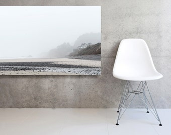 Large Scale Canvas Minimal Seascape Coast Wall Decor