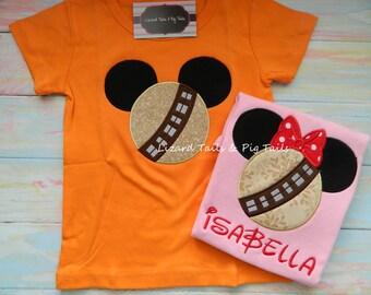 Mickey Minnie Chewy Shirt - Chew Baca - Furry Friend - Star Wars Furry Friend - Star Wars Inspired Shirt - Disney Vacation - Kids Disney