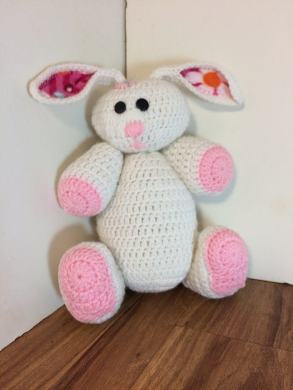 Amigurumi Stuffing : Crocheted Bunny rabbit stuffed amigurumi style