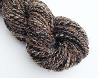Handspun Yarn - Shetland Wool - Natural Blend - Undyed - Multi-Colour