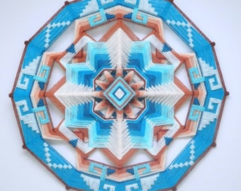 Enchanted Mesa, a 24 inch, wool yarn, Ojo de Dios, by Jay Mohler, in stock, ready to ship.