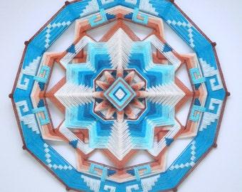Enchanted Mesa, a 24 inch, wool yarn, Ojo de Dios, IN STOCK, ready to ship.