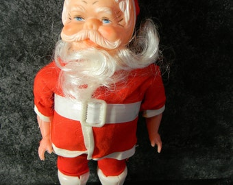 Vintage Plastic Santa Clause new old stock holiday decor farmhouse chic craft supplies wreath crafts Supplies for holidays