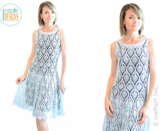 CROCHET PATTERN Charming Pineapples Prom Dress PDF Crochet Pattern with Instant Download
