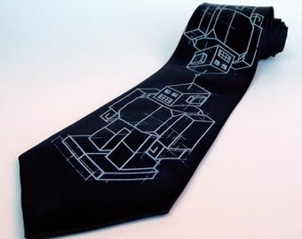 Men's Necktie - Robots Tie - Premium Quality Microfiber Tie - Gift Wrapped - Choose color and quantity