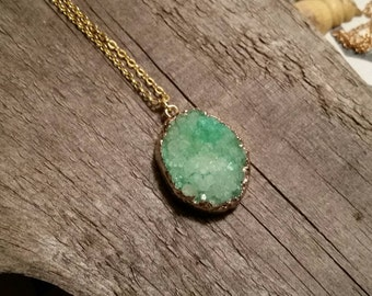 Druzy necklace - boxing day - boxing week sale - druzy necklace