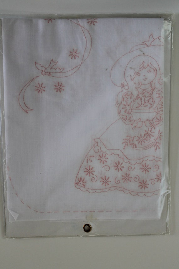 Vintage scarf for embroidery or painting packaged