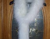 Glamorous White Fox Faux Fur Long Scarf