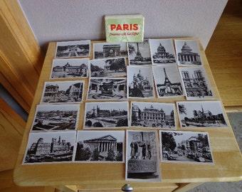 Vintage Souvenir Packet of Black and White Photos of Paris