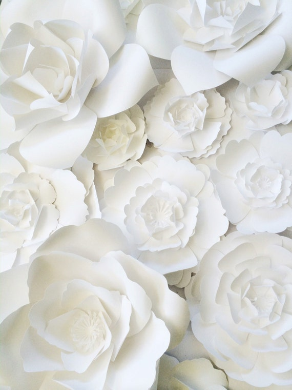 Paper Flower Wall Decor Large Backdrop Giant Flowers For Weddings Backdrops And Home Art