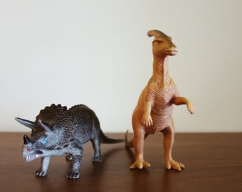 Two vintage dinosaur figurines