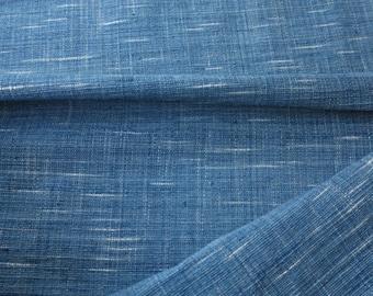 SPRING SALE - IDHF12: Light Tone Indigo Fabric -  Ikat Pattern (random tie dye)