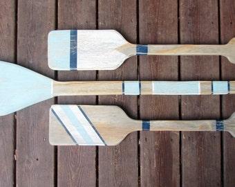 Set of 3 oars. Coastal Oar Set. Reclaimed wood Beach Oar Set. Beach Home Decor. Coastal Home Decor. Made to Order