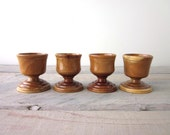 Wood Egg Cups Set of Four