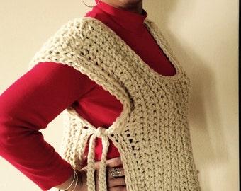 Crochet Vest Pattern PDF, Instant download, Easy Crochet Chunky Boxy Vest Pattern, Crochet Clothing Pattern