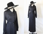 RESERVED ITEM black belted maxi / 1970's