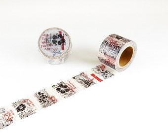 Flower Chamil garden washi tape 30mm x 10M washi masking tape