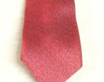 Skinny Tie , Vintage Necktie , Red Tie , Mad Men , Mid-Century , Narrow Tie , Retro , Mens Ties , Cravat , Menswear , Tie , Vintage Ties
