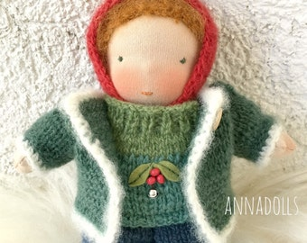 Waldorf doll. Gnome. 7 inch. Pocket doll.