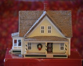 Miniature House/Sarah Plain & Tall Prairie Home by Hallmark Hall of Fame Productions/Christmas Village Decor/ Train Building/1994