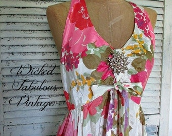 FaBuLouS ViNTaGe LoNG FLoRaL DReSS!