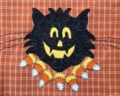 Halloween Owl Applique PDF Pattern for Tea Towel