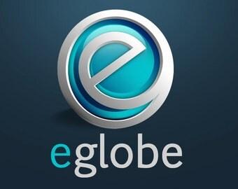 Premade Logo, Business Logo, Logo Design, Photography Logo, Globe Logo, Modern Logo, Logo, World Globe, Globe, Premade Logo Design, .